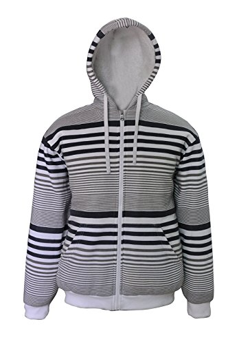 Simplicity Simple Full Zip Hoodie With Two Pouch Pockets White by Simplicity (Image #1)