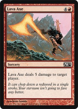 Lava Axe - Magic 2012 Core Set - Common