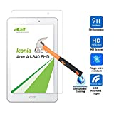 IVSO Acer Iconia Tab 8 A1-840 FHD 0.3mm Ultra-thin 9H Hardness 2.5D Round Edge Highest Quality HD clear& Anti-Scratch/ Shatterproof/ Anti-Fingerprint/ Water Premium Tempered Glass Screen Protector (1pcs)