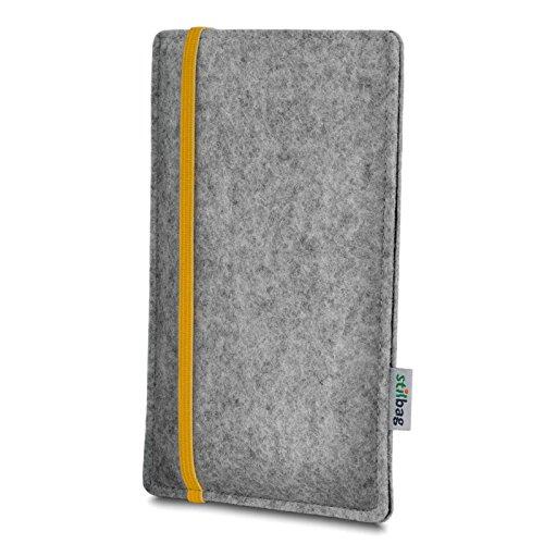 Stilbag Etui Feutre 'LEON' pour Apple iPhone 3Gs - Couleur: jaune-gris