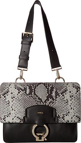 Furla Women's Scoop Small Shoulder Bag Onyx/Argilla Handbag