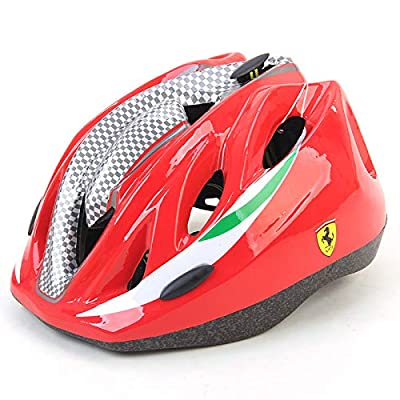 MESUCA Ferrari Kids Helmet Adjustable Sports Protective Gear for Roller Bicycle Bike Skateboard Outdoor Sports (Red) : Sports & Outdoors