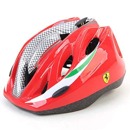 MESUCA Ferrari Kids Helmet Adjustable Sports Protective Gear for Roller Bicycle Bike Skateboard Outdoor Sports (Red)