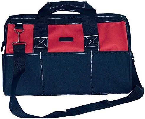 耐久性工具バッグ プロフェッショナル多機能ツールハンドパワーのために収納袋主催ホームDIY用品ストレージ 工具収納&仕分け管理&運搬用 (色 : 赤, Size : 17inch)