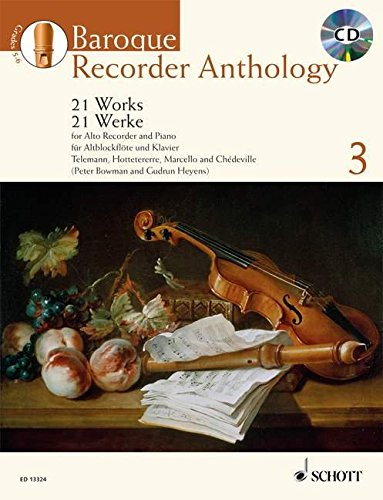 Flute Recorder Music - Baroque Recorder Anthology - Volume 3: 21 Works for Alto (Treble) Recorder and Piano
