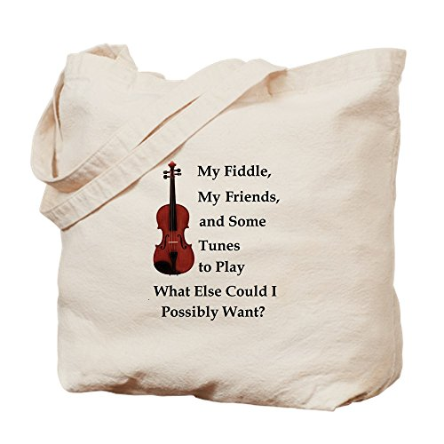 Bluegrass Tunes (CafePress - My Fiddle, My Friends, And Tunes - Natural Canvas Tote Bag, Cloth Shopping Bag)