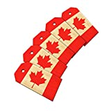 Flag of Canada Wooden Wood Gift Tag Set