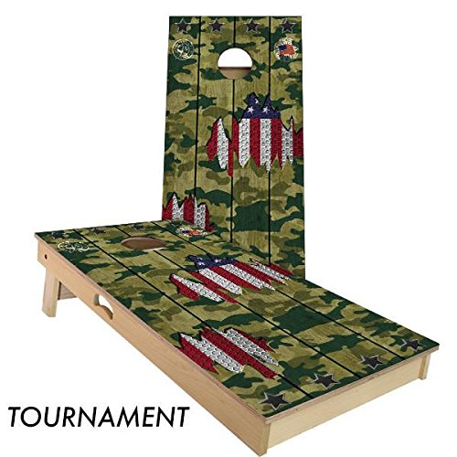 Woody Camo (Slick Woody's Camo USA 4' by 2' Tournament size Cornhole Boards Set)