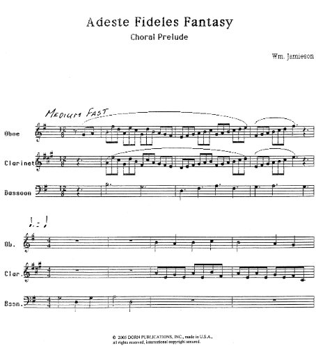 Adeste Fideles Fantasy for Woodwind Trio by William ()
