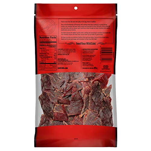 Jack Link's Beef Jerky, Teriyaki, ½ Pounder. Bag – Flavorful Meat Snack, 11g of Protein and 80 Calories, Made with 100% Premium Beef - 96% Fat Free, No Added MSG or Nitrates/Nitrites