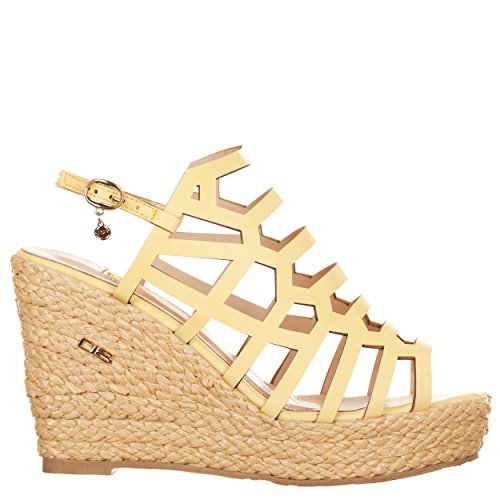 VialeScarpe O6-sa0517gi_39 - Sandalias de vestir de piel sintética para mujer amarillo amarillo 39 amarillo
