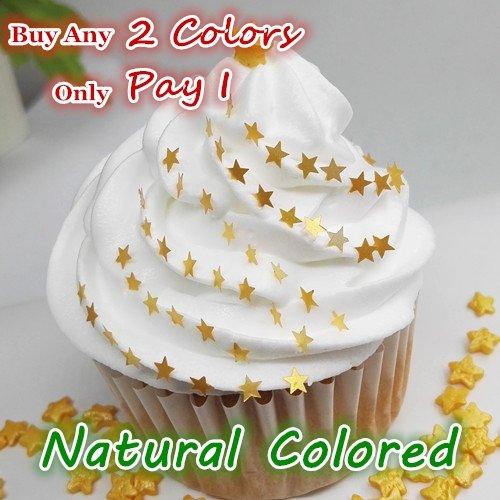 Natural Color Edible GMO Nuts Gluten Sugar Free Glitter Star ()