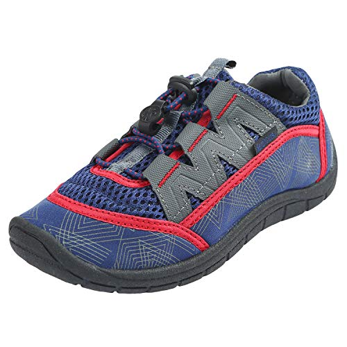 Northside Brille Water Shoe, Navy/Red, Size 4 M US Big ()
