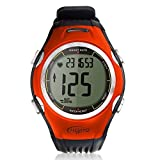 HeartQ Heart Rate Monitor (HRM) & Sports Watch, Premium Edition, Activity Tracker, Calorie Counter, Heart Rate Target In-Zone Timer, Stopwatch, Chronograph, EL Backlight, Chest Belt made of Polyurethane Fabric for Highest Comfort and Precision, Stylish Design and Best Value