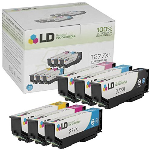 (LD Remanufactured Ink Cartridge Replacements for Epson 277XL High Yield (Black, Cyan, Magenta, Yellow, Light Cyan, Light Magenta, 6-Pack))