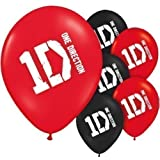 One Direction Birthday - 1D Party Latex Balloons x 6