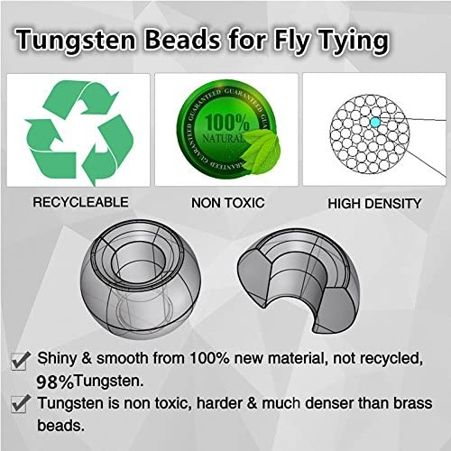 Tungsten Bead 40 pc size 5//64  Black Nickel High Quality Fly tying FREE SHIPPING