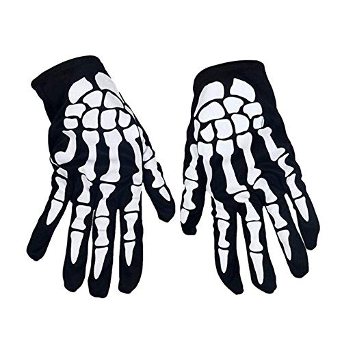 Euone  Halloween Clearance , 1 Pair Ghost Bone Gloves Skeleton Scary Ornament Stage Masquerade Halloween -