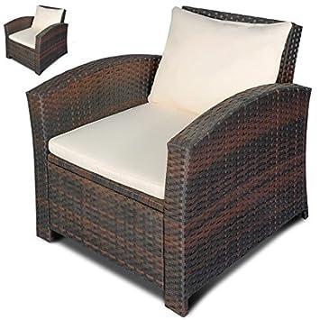 Set de 2 sillones individuales de poli-ratán, color a elegir ...