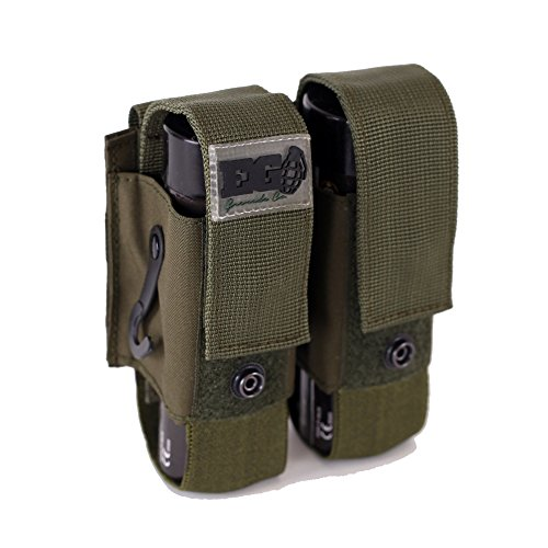 EnolaGaye Deuce Pouch for Molle Combat Systems - Grenade Carrier (Olive) ()