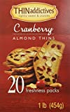 Thin Addictives, Thinaddictives Cranberry Almond: 2 Boxes of 16 Oz: 40 Packs