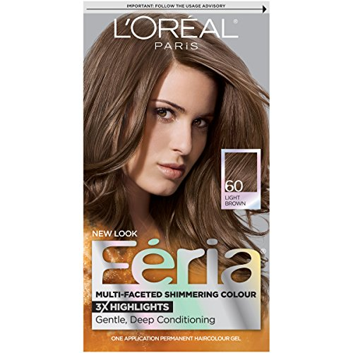 L'Oreal Paris Feria Hair Color, 60 Light Brown