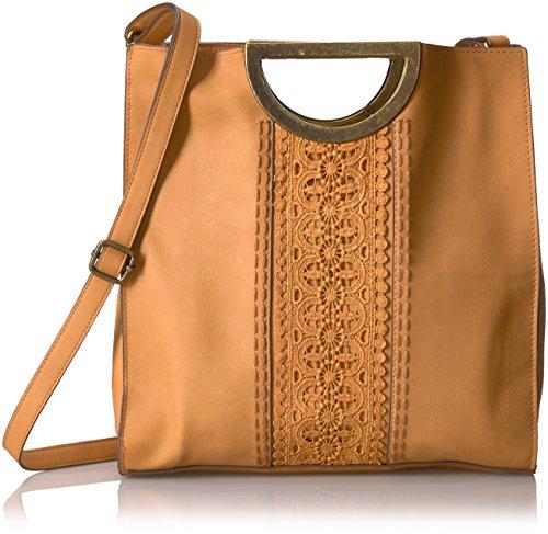 T-Shirt & Jeans Ring Bag with Crochet Trim, Khaki