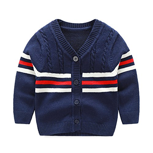 Baby Sweater Boys Girls Cardigan Spring Autumn (9 Monthes, Blue) ()