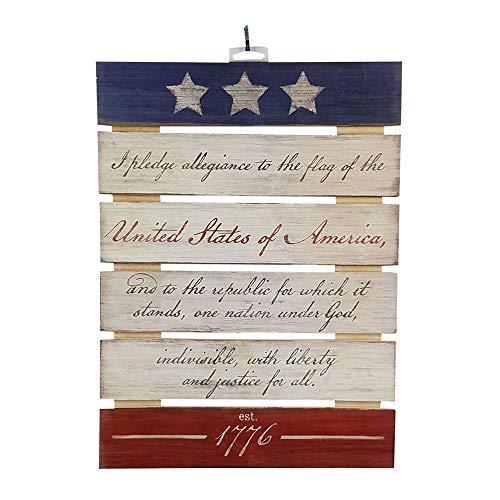 - Imprints Plus Pledge of Allegiance Inspirational Reclaimed Wood Sign, 12