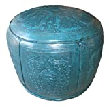 New World Trading Large Ottoman Round, Colonial, Teal Review