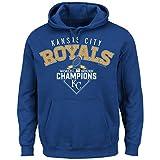 MLB Kansas City Royals Men's World Series Champ The Cycle Fleece Hoodie, Medium, Royal