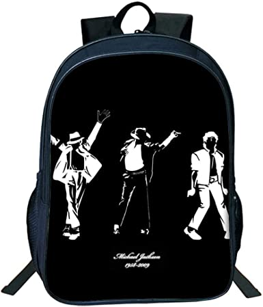 Musician Michael Jackson Backpack School Bag Shoulder Bag Student Bag Book Bags