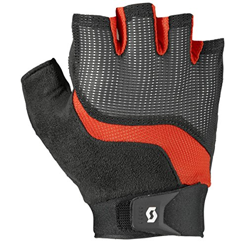 Scott Essential SF Glove - Men's Black/Fiery Red, L (Nylon Gloves Scott)