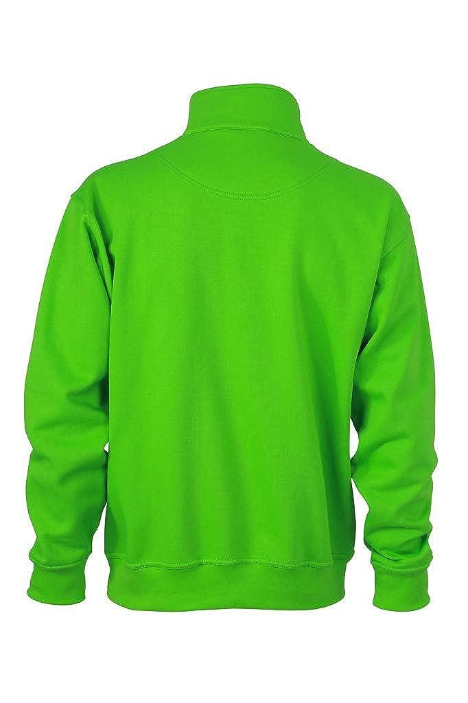 James /& Nicholson Mens Plain Long Sleeve Hoodie