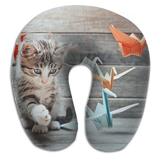 U-Shaped Pillow Neck Shoulder Body Care Cat Playing Paper Crane Health Soft U-Pillow For Home Travel Flight Unisex Supportive Sleeping]()