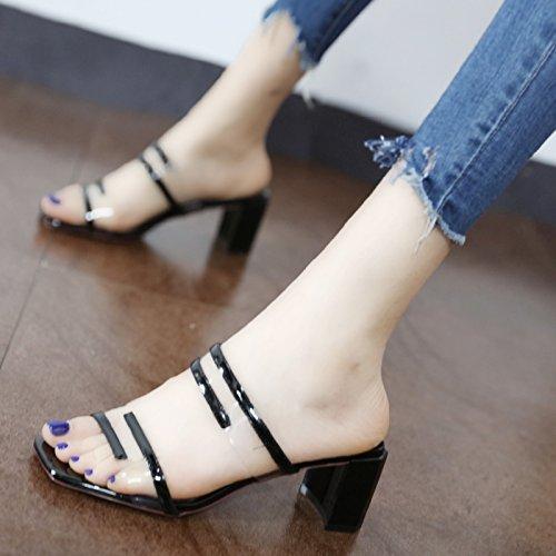 GaoXiao trasparente pantofole con vogue vogue vogue e