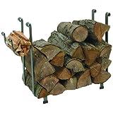 Enclume Large Rectangular Log Rack, Hammered Steel