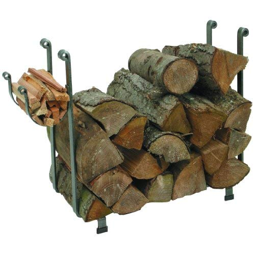 Enclume Large Rectangular Log Rack, Hammered Steel
