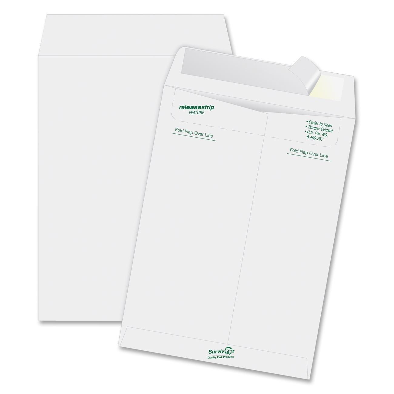 Quality park tyvek and tear resistant envelopes 10 x 13 for 10 x 13 window envelope