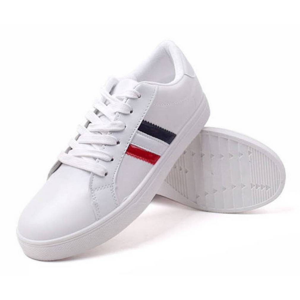 EpicStep Women's Casual Simple Comfy Cute Lace Up Flats Fashion Sneakers Shoes B079ZQFJFX 6 B(M) US|White2