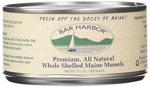 Bar Harbor Whole Shelled Mussels, 6.5 Ounce (Pack of 12)
