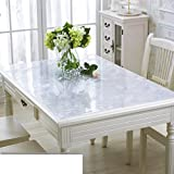 Pvc table cloth Waterproof Anti-scalding Oil-proof Disposable soft glass Transparent table mat Pad Table cloth Tea table mats-A 90x150cm(35x59inch)