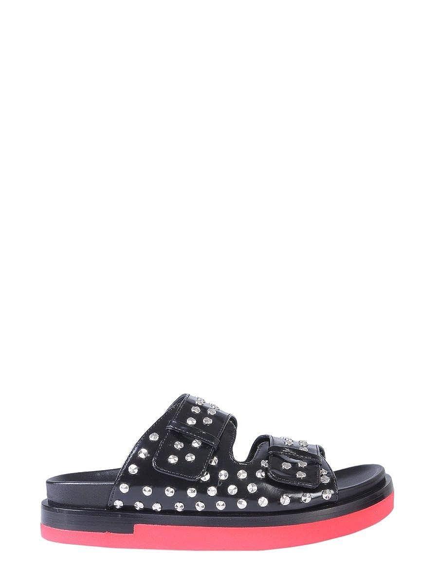 - Alexander McQueen Women's 559938WHV761091 Black Leather Sandals