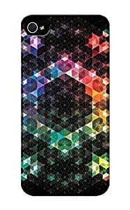 Iphone 5/5s JqVWUdv168kvseU Rainbow Hexagons Tpu Silicone Gel Case Cover For Lovers
