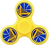 Basketball Logo Warriors-Golden State Fidget Spinner High Speed Stainless Steel Bearing Focus ADHD Anxiety Relief Toys Yellow