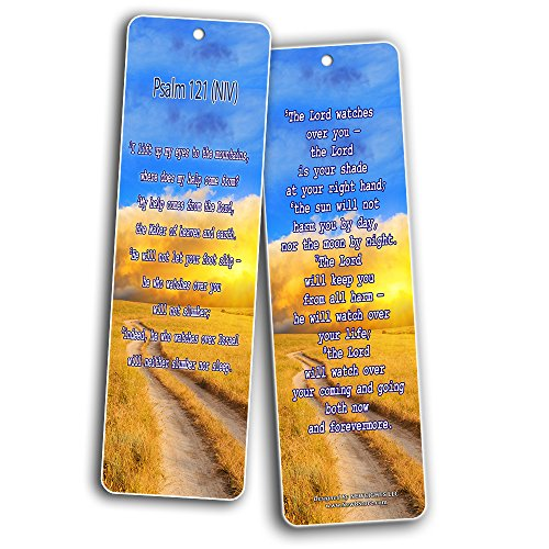 Bible Verse Bookmarks - Psalm Bookmarks - NIV Version (30-Pack) - Religious Christian Inspirational Gifts to Encourage Men Women Boys Girls - Bible Study Sunday School War Room Decor by NewEights (Image #4)