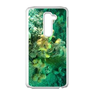 The Green Coral Reef Hight Quality Plastic Case for LG G2