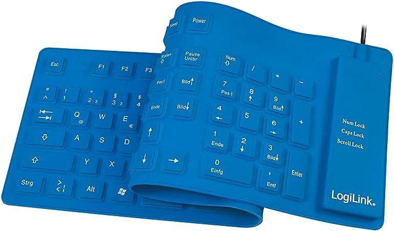 Logilink Teclado De Silicona USB Y PS / 2, De Color Azul ...