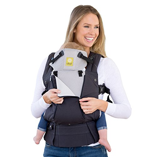 LÍLLÉbaby The COMPLETE All Seasons SIX-Position, 360° Ergonomic Baby & Child Carrier, Charcoal/Silver - Comfortable and Ergonomic, Multi-Position Carrying for Infants Babies Toddlers