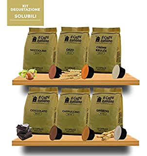 96 Cápsulas de Soluble compatibles Dolce Gusto - kit degustación de 96 cápsulas solubles compatibles con